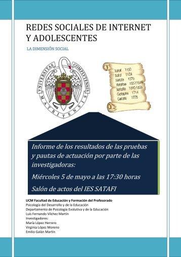 REDES SOCIALES DE INTERNET Y ADOLESCENTES - ies satafi