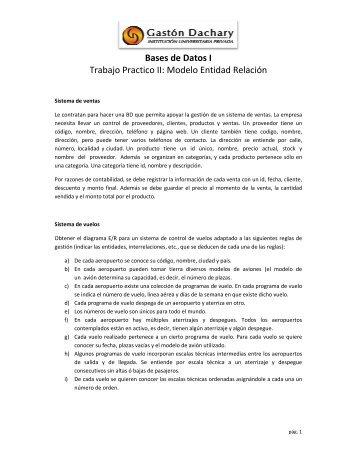 Trabajo Practico II: Model Bases de Datos I rabajo Practico II ...
