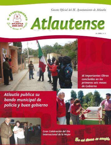 Gaceta Oficial del H. Ayuntamiento de Atlautla