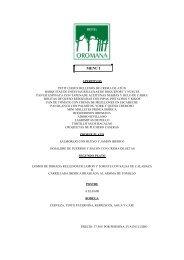 menu comuniones - Hotel Oromana