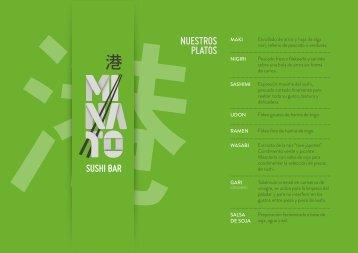 Nuestra Carta - Sushi Bar Minato
