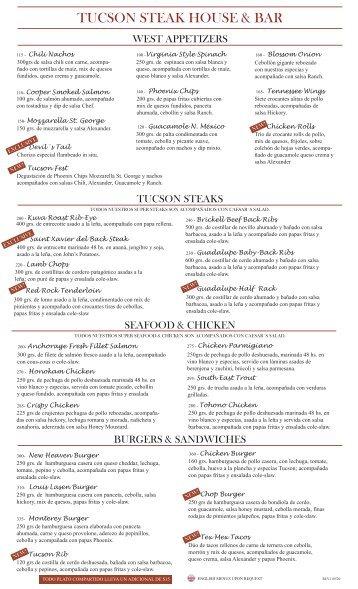 Menú Tucson.pdf - Hipódromo Argentino de Palermo