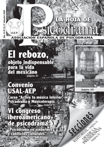 portada psicod3.indd - Asociación Española de Psicodrama