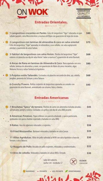 menu restó pdf - On Wok