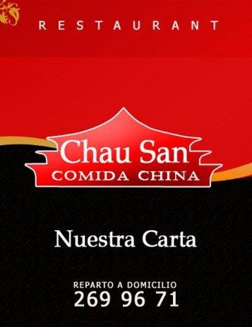 Menú - Chau San