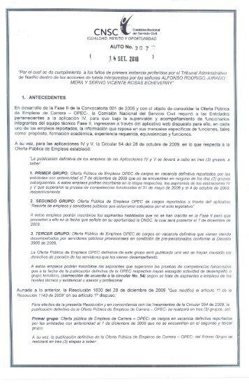 ' SEL 2tllll ' - Comisión Nacional del Servicio Civil