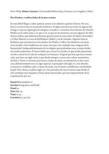 Ester Nelly Abuter Ananías - Fachbereich Philosophie und ...