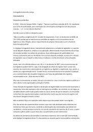 CORREGEDORIA GERAL DA JUSTIÇA. Provimentos. Despacho n ...