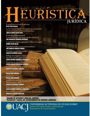Heurística Jurídica - Universidad Autónoma de Ciudad Juárez