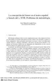 La concepción del honor en el teatro español y francés del siglo XVII