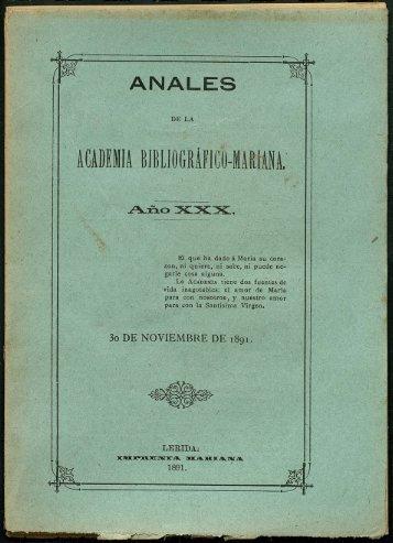 ANALES ACADEMIA BIBLIOGRÁFICO-MARtiNA,· - Sol-Torres