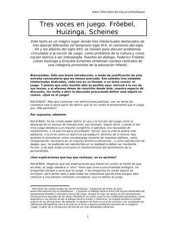 dialogos entrega 22 FRÖEBEL, HUIZINGA ... - glosarioeducativo