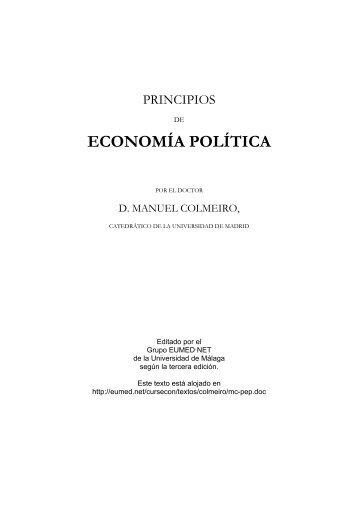 Principios de Economía Política - Eumed.net