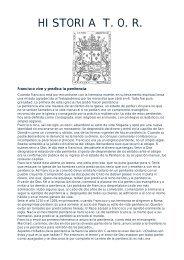 HISTORIA T.O.R. - Tercera Orden Regular