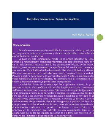 Fidelidad y compromis - Comunidad Teológica Evangélica de Chile