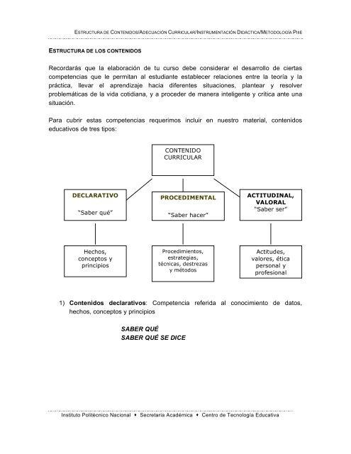 Estructura De Los Contenidos Centro De Investigación En