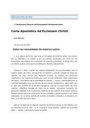 Carta Apostólica Ad Ecclesiam Christi - Iglesia de Nuestra Señora ...