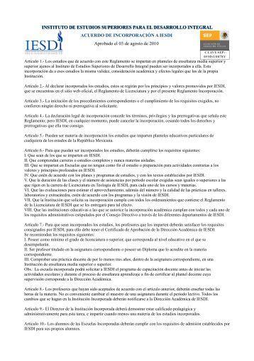 instituto de estudios superiores para el desarrollo integral - iesdi.net