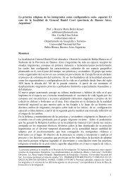 1 La práctica religiosa de los inmigrantes como configuradora socio ...