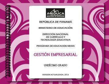 gestion emp 11° 2013 - Ministerio de Educación