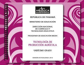 Tecnología de la Producción Agrícola - Ministerio de Educación