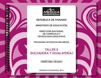 T II (Soldadura y Hojalatería) - Ministerio de Educación