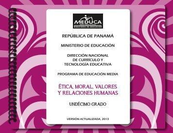 Ética, Moral, Valores y Relaciones Humanas - Ministerio de Educación