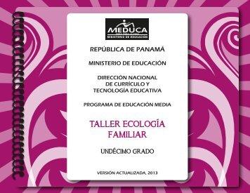 ecologia familiar 11°-2013 - Ministerio de Educación