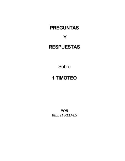 1 Timoteo Bill H Reeves Ensena