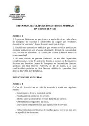 ORDENANZA REGULADORA DO SERVIZO DE ... - Concello de Vigo