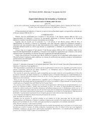 Resolución No. 42847 de fecha 18 de julio de 2012, publicada en el ...