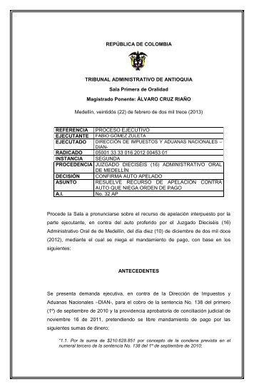 REPÚBLICA DE COLOMBIA TRIBUNAL ... - Rama Judicial