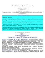 LEY 1116 DE 2006 - Superintendencia de Industria y Comercio