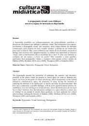 A propaganda virtual e seus diálogos - CCHLA - Universidade ...