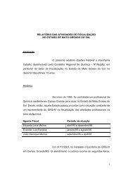 Clique aqui para obter a íntegra do relatório - Conselho Regional de ...
