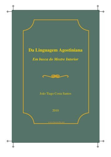 Da Linguagem Agostiniana - LusoSofia
