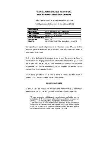 """""""1. Las sentencias debidamente ejecutoriadas ... - Rama Judicial"""