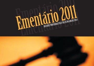 DECISÕES PROFERIDAS PELO TRE/ES NO ANO DE 2011/1