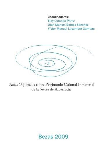 Actas 1ª Jornada sobre Patrimonio Cultural Inmaterial de la Sierra ...