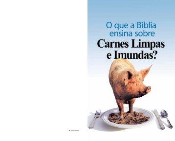 O que a Bíblia ensina acerca de Carnes Limpas e Imundas