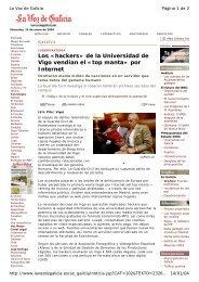 Los «hackers» de la Universidad de Vigo vendían el «top ... - Duvi