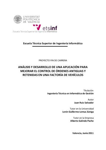 análisis y desarrollo de una aplicación para mejorar el control de ...