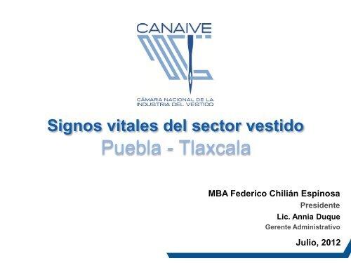 Puebla Tlaxcala Cámara Nacional De La Industria Del Vestido