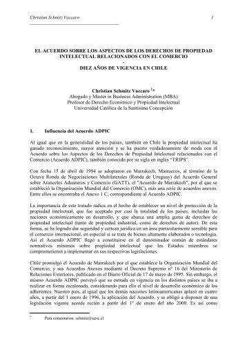 ADPIC Diez años de vigencia en Chile - achipi