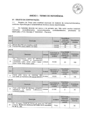 Anexo I - Termo de Referência Republicado