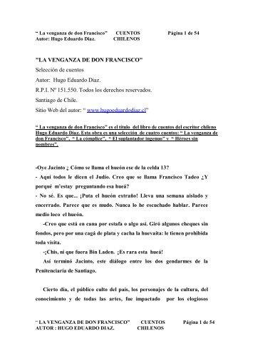 LA VENGANZA DE DON FRANCISCO - Hugo Eduardo Diaz