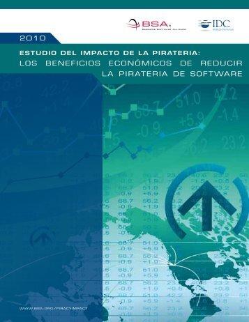 2010 los beneficios económicos de reducir la pirateria de software