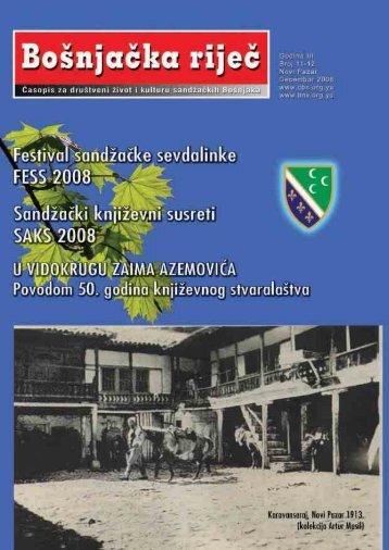 Bošnjačka riječ 11-12 - Centar za bošnjačke studije