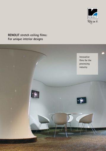 RENOLIT stretch ceiling films: For unique interior designs