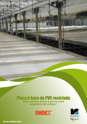 Placa à base de PVC reciclado - Renolit